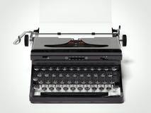 Antique vintage portable typewriter. 3d rendering Stock Images