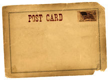 Antique Vintage Postcard Blank Space Royalty Free Stock Photo