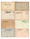 Antique Vintage Postcard Set of 8. A set of 8 authentic vintage antique postcard backs Royalty Free Stock Photos