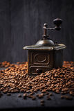 Antique vintage retro bronze coffee mill Stock Photography