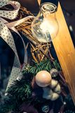 Antique vintage or retro Christmas toys decoration Royalty Free Stock Image