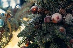 Antique vintage or retro Christmas toys decoration. Background Stock Images