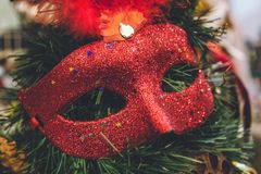 Antique vintage or retro Christmas toys decoration background Royalty Free Stock Photo