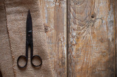 Antique vintage scissors Royalty Free Stock Image