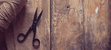 Antique vintage scissors Stock Photography