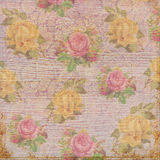 Antique vintage shabby roses background Stock Photos