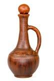 Antique vintage Slavic earthenware jug, timetable national ornament Royalty Free Stock Image