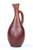 Antique vintage Slavic earthenware jug, timetable national ornament Stock Images