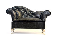 Antique vintage sofa. Isolated on white background Stock Images