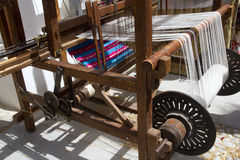 Antique vintage spinner machine working Royalty Free Stock Photos