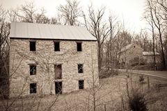 Antique/vintage stone building in the mountains of. Abandoned old stone house found on a country road off of route 9 in the Appalachian mountains Stock Photography