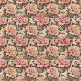 Antique Vintage style botanical pink floral roses background Stock Images