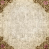 Antique Vintage Style Paper. An antique style paper background with victorian rose corners royalty free illustration