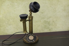 Antique vintage telephone. Antique phone with control dial, old rotary telephone Stock Photography