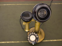 Antique vintage telephone. Rotary phone. Antique phone with control dial, old rotary telephone Royalty Free Stock Images