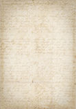 Antique vintage textured paper with script Royalty Free Stock Image