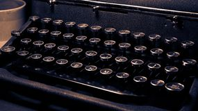 Antique, vintage typewriter, Royal Quiet Deluxe, keyboard close-up royalty free stock photos