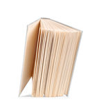 Antique vintage white open book falls in the air Royalty Free Stock Image