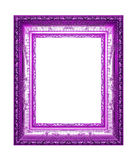 Antique violet frame on the white background Royalty Free Stock Image