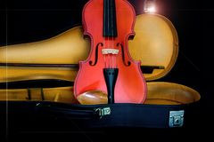 Antique violin stock image