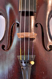 Antique violin closeup against white Stock Photography