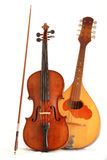 Antique violin and mandolin Royalty Free Stock Images