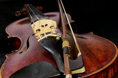 Antique violin Royalty Free Stock Photography