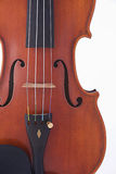 Antique Violin Viola Isolated on White Royalty Free Stock Image