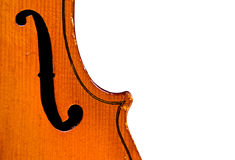 Antique Violin on white Stock Images