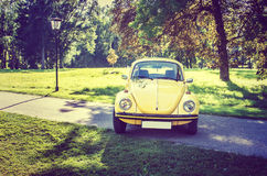 Antique Volkswagen beetle stock images