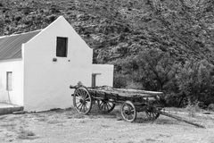 Antique wagon in black and white Stock Photography