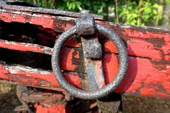 Antique wagon metal ring Royalty Free Stock Images