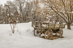 Antique Wagon in Rural America Stock Photos