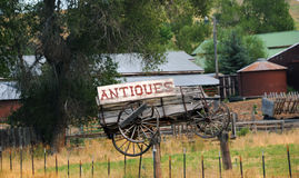 Antique Wagon Sign Royalty Free Stock Photo