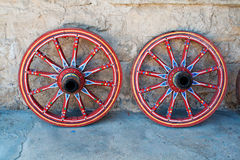 Antique Wagon Wheel Royalty Free Stock Images