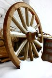 Antique wagon wheels Royalty Free Stock Photography
