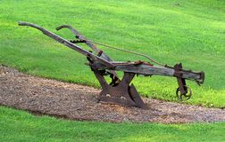 Antique Walking Plow Stock Image