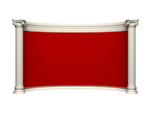 Antique wall. With column and red wallpaper Royalty Free Stock Photo
