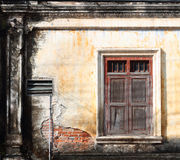 The antique wall. The antique wall take a photo from Phuket town, Thailand stock photos