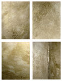 Antique Wall Backgrounds. A collection of antique textured finish interior wall backgrounds with lots of aged character Royalty Free Stock Images