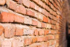 Antique Wall Brick. In Old city Stock Photo
