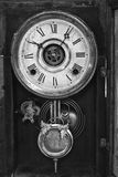 Antique Wall Clock. Black and White of a Traditional Antique Wall Clock royalty free stock photos