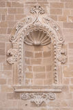 Antique wall element. Stone arch Royalty Free Stock Photo