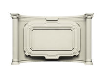 Antique wall with frame. Antique white wall with frame Stock Photo