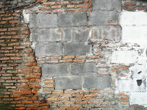 An antique wall was abandoned and fell into ruin Stock Photography