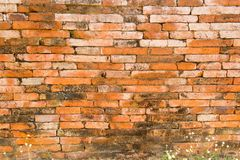An antique wall was abandoned and fell into ruin Stock Image