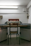 Antique War radio transmitter room in bunker, Independance Palac Royalty Free Stock Image