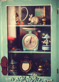Antique wardrobe with scales Stock Image