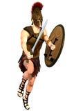 Antique warrior  Stock Image