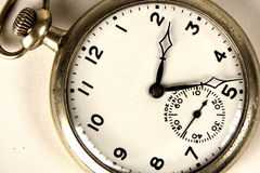 Antique watch. Close up on white background Royalty Free Stock Photos